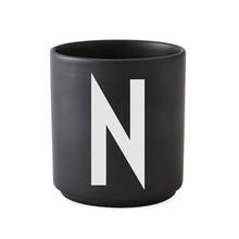 Design Letters - Design Letters - Porseleinen kop N-Z zwart L