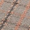 GAN - Garden Layers Big Roll Tartan Kissen - terrakotta/Handwebstuhl/LxBxH 78x40x40cm