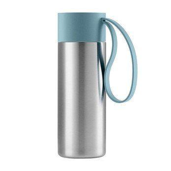 Eva Solo - Eva Solo To Go Cup Thermosflasche - arktisch blau/edelstahl/1 Trageschlaufe/H 20cm/Ø 6.5cm/0.35 L