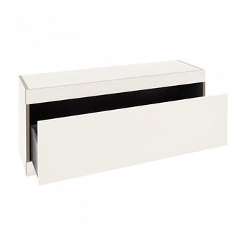 müller möbelwerkstätten - Flai Stauraumbank mit Schublade - weiß/ohne Sitzpolster/1.8cm CPL-Beschichtung/1 Schuhfach/BxHxT 118x48x35cm