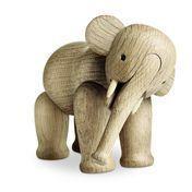 Kay Bojesen Denmark - Kay Bojesen Wooden Figurine Elephant - oak/matt