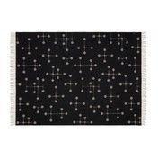 Vitra - Dot Pattern Eames Wolldecke - warmes grau/schwarz/100% Merino-Lammwolle/200x135cm/Jacquard-Webtechnik