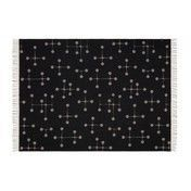 Vitra - Eames Wolldecke - warmes grau/schwarz/100% Merino-Lammwolle/200x135cm/Jacquard-Webtechnik