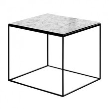 Zeus - Slim Marble Side Table 54x54x48cm