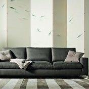 Molteni & C - Portfolio Sofa - fume/Gestell lackiert titan/Stoff Wise Cat. W 7891