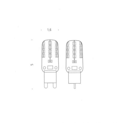 Nemo - Crown LED Leuchtmittel 6er Set - transparent/Glas/2700K/200lm/2,2W/6 Stück/dimmbar