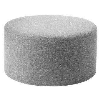 Softline - Drum Hocker / Beistelltisch L - hellgrau/Stoff Filz 620/H 30cm / Ø 60 cm