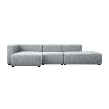 HAY   Mags Lounge Sofa Chaise Longue Left   Light Grey/fabric ...
