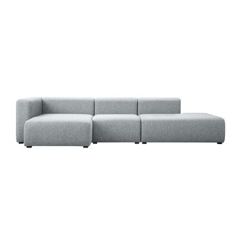 HAY - Mags Lounge Sofa Chaiselongue links - hellgrau/Stoff Halingdal 130/304x127.5x67cm