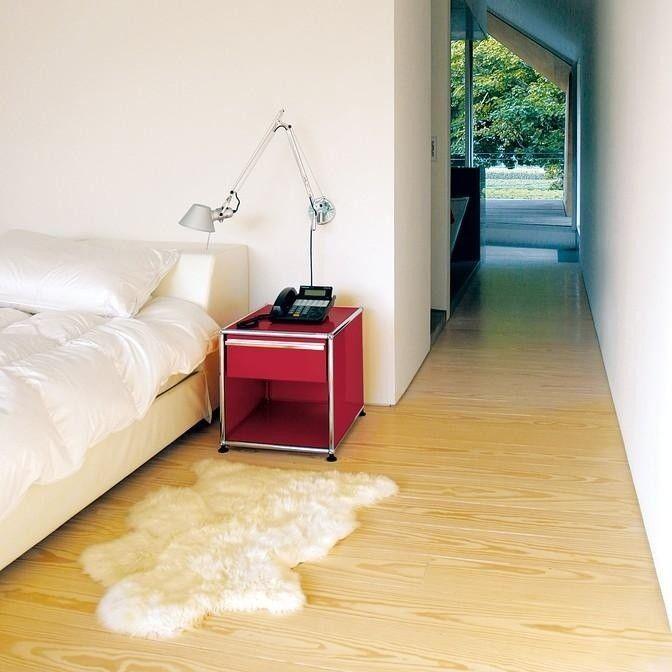usm nachttisch mit schublade usm haller nachttische. Black Bedroom Furniture Sets. Home Design Ideas