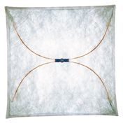 Flos - Ariette 2 Wand- / Deckenleuchte - natur / 100x100cm/Textil/Metall
