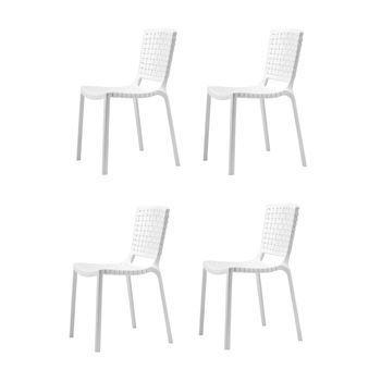 Pedrali - Tatami Gartenstuhl 4er Set - weiß/UV-beständig/100% recyclebar