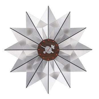 Vitra - Flock of Butterflies Clock Nelson Wanduhr - aluminium/Ø61cm