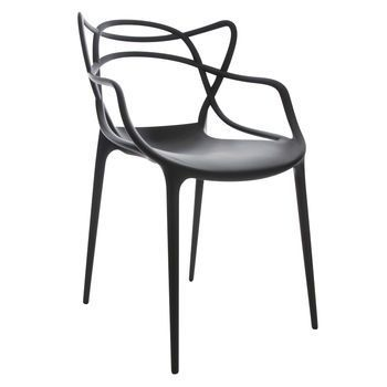 Kartell - Masters Stuhl  - schwarz/matt