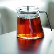 mono - mono Ellipse Teapot 1,3l - transparent/stainless steel