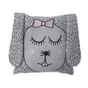 ferm LIVING - Little Ms. Rabbit Kinderkissen - grau/Handwäsche/30x30cm