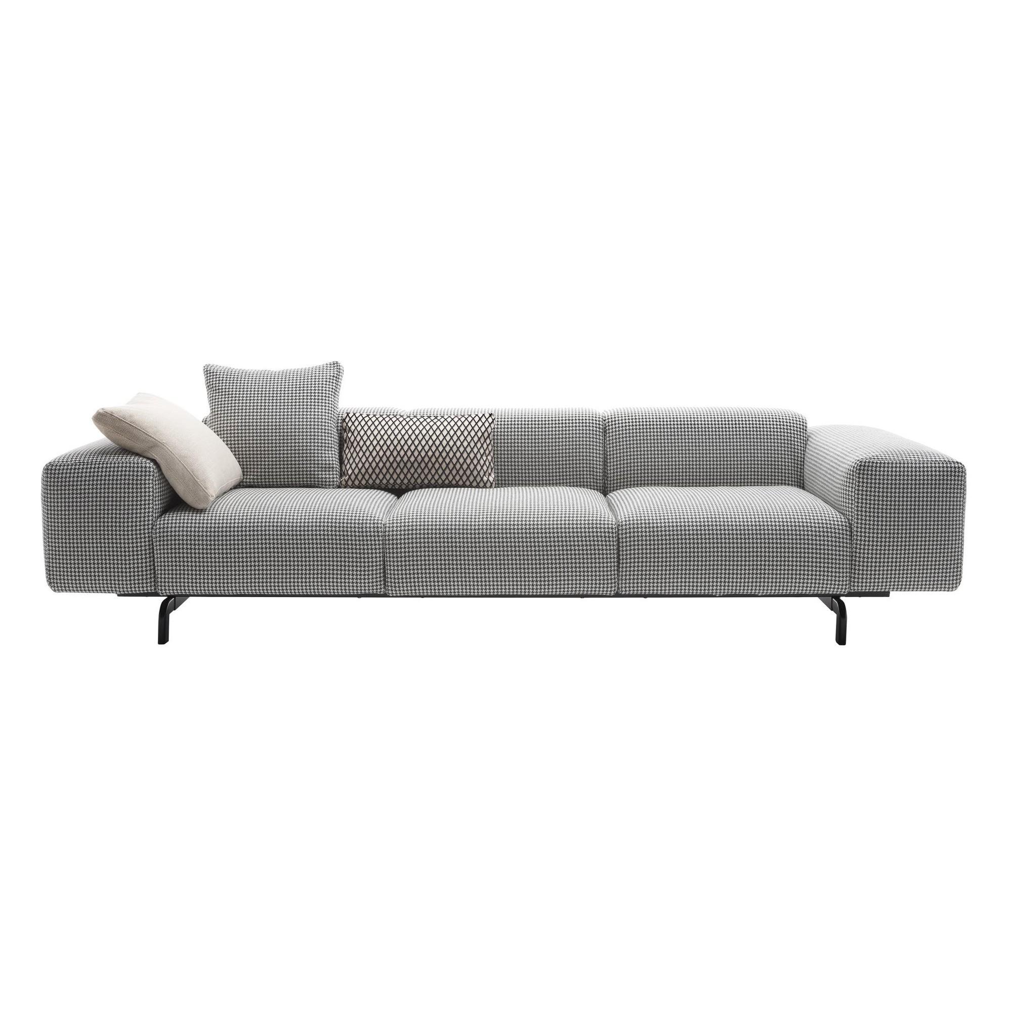 Kartell   Largo 3 Sitzer Sofa   Grau/Stoff Pied De Poule TG Grau ...