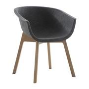 Conmoto - Chaise avec accoudoirs Chairman structure en bois