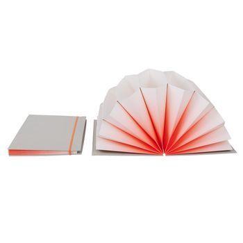 HAY - Plissé Dokumentenmappe - hellgrau/neon koralle