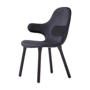 &tradition - Catch Chair JH1 Stuhl Gestell schwarz - schwarz/Stoff Balder 3 192/Gestell Eiche schwarz lackiert