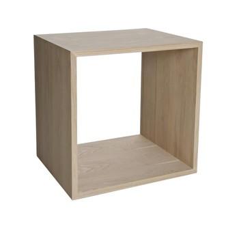 Muuto - Stacked Einzelfach 2 Esche - esche/ohne Rückseite/43,6 x 43,6 x 35cm