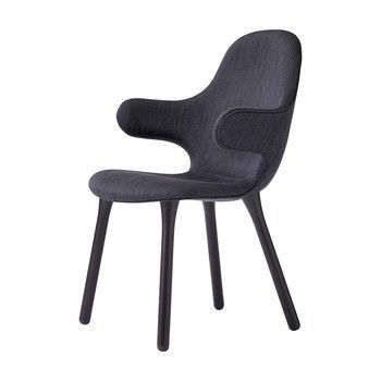 AndTradition - Catch Chair JH1 Stuhl Gestell schwarz - schwarz/Stoff Balder 3 192/Gestell Eiche schwarz lackiert