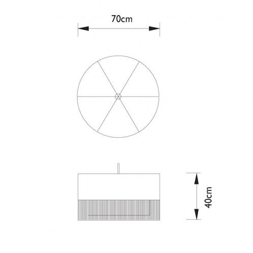Moooi - Fringe 1 Pendelleuchte - Strichzeichnung