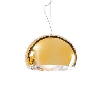 Kartell - FL/Y Metallic Pendelleuchte - gold