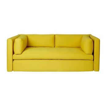 HAY - Hackney 2-Sitzer Sofa  - gelb/Steelcut 445/200x96x75cm
