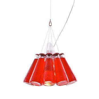Ingo Maurer - Campari Light Pendelleuchte - rot/Glas/Größe 1/Abhängungslänge 155cm