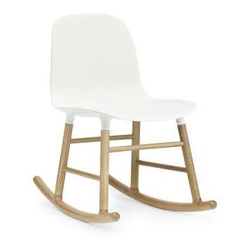 - Form Rocking Chair Oak Schaukelstuhl Eiche - weiß/Gestell eiche/H x B x T: 73 x 48 x 69cm