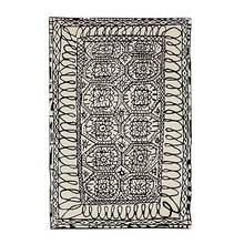 Nanimarquina - Black on white / Estambul Wool Carpet
