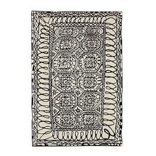 Nanimarquina - Black on white / Estambul - Tapis de laine