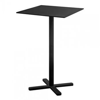 emu - Darwin Stehtisch 70x70x105cm - schwarz/pulverbeschichtet/LxBxH 70x70x105cm/klappbar