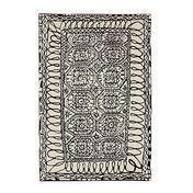 Nanimarquina - Estambul - Alfombra de lana - negro & blanco/lana de nueva zelanda/200x300cm