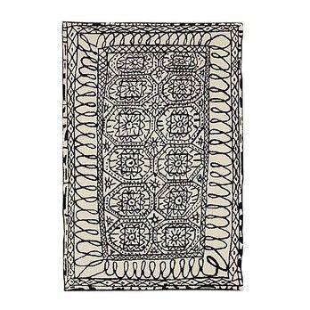 Nanimarquina - Estambul Woll Teppich - schwarz-weiss/Neuseeland-Wolle/200x300cm