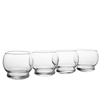 Normann Copenhagen - Rocking Glass Set 4 Stück - transparent
