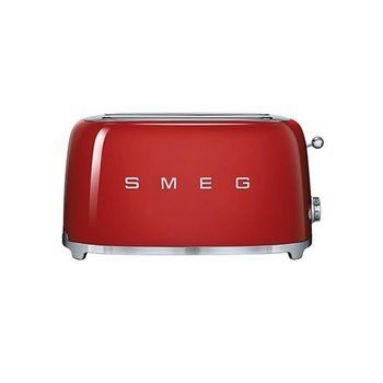 Smeg - SMEG 4-Scheiben Toaster TSF02 - rot/lackiert/6 Röstgradstufen/39,4x20,8x21,5cm
