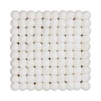myfelt - Linéa Untersetzer 20x20cm - weiß/reine Schurwolle/Hitzebeständig bis zu 100 Grad