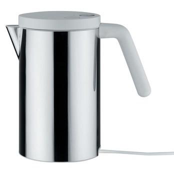 Alessi - Hot.It Elektrischer Wasserkocher - edelstahl/Deckel weiß/0.8l