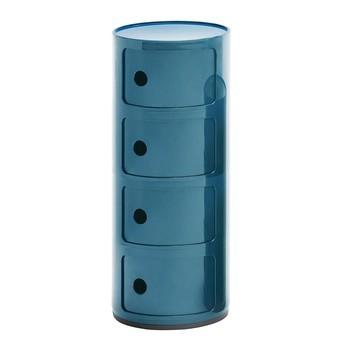 Kartell - Componibili 4 Container - blau/matt/H 77cm/ Ø 32cm/Neue Farbe!