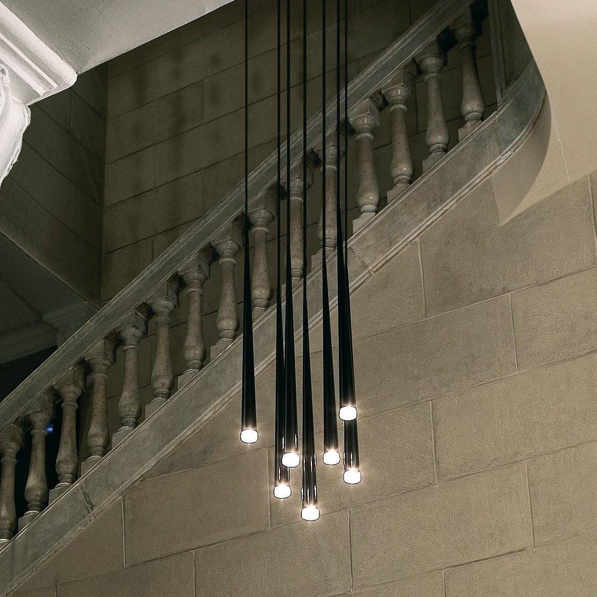 Pipe 3 led suspension lamp decor walther ambientedirect com - Vibia Slim 0916 Led Suspension Lamp