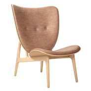 NORR 11 - Elephant Lounge Chair Leather Natural Oak Frame