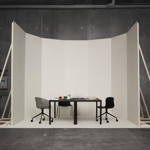 HAY - About a Chair Bürostuhl/Drehstuhl mit Rollen