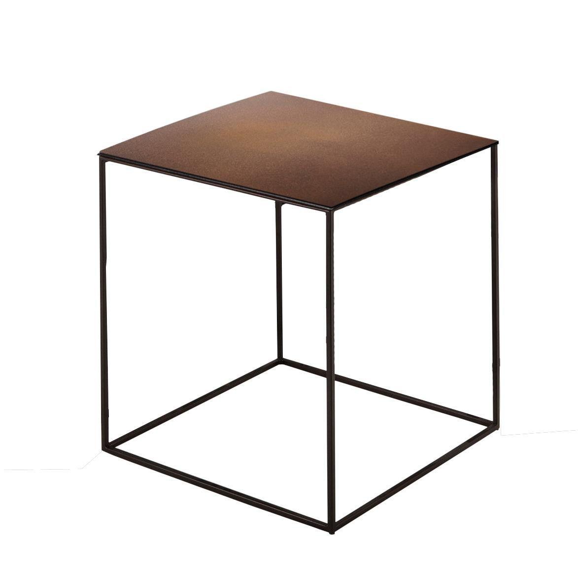 slim irony side table 41x41cm | zeus | ambientedirect