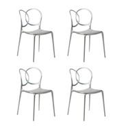 Driade - Sissi Metallic Gartenstuhl 4er Set