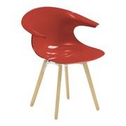 Infiniti - Chaise avec accoudoirs et piètement en bois Loop
