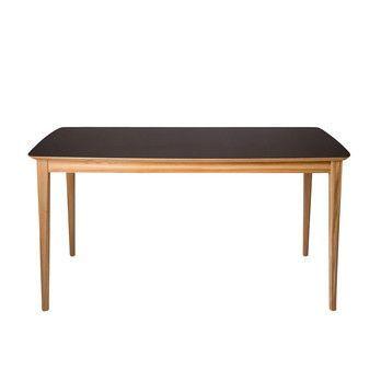 Petite Friture - Market Tisch 142x71cm - eiche/Leder schwarz