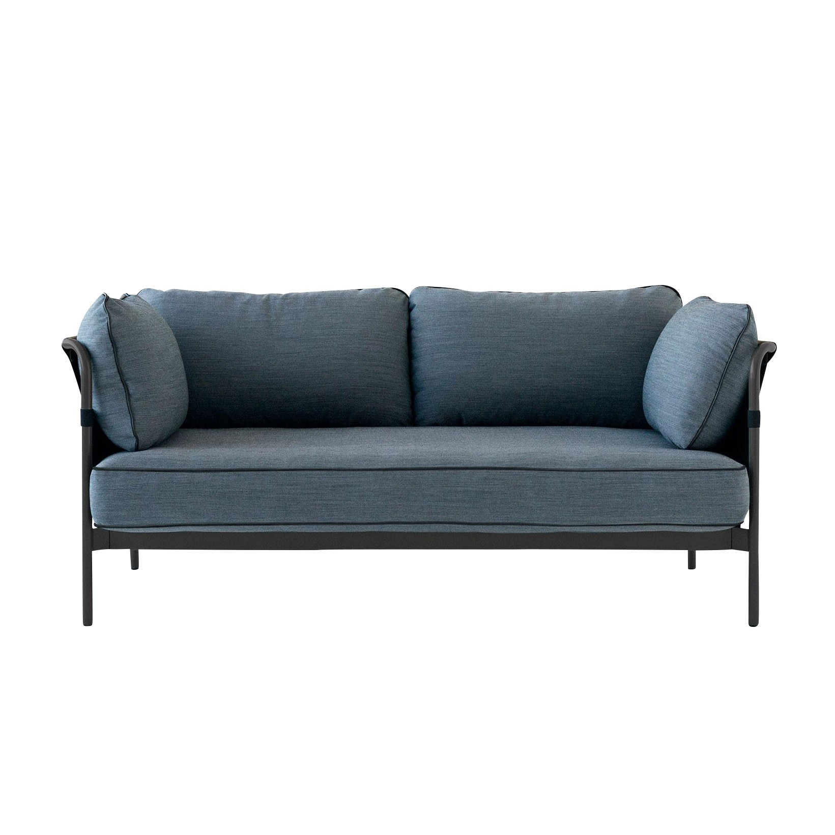 Hay Can 2 Seater Sofa Frame Black