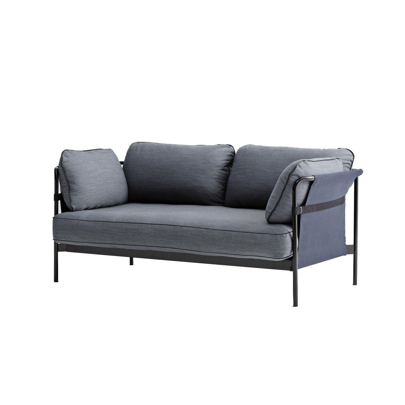 Hay Can 2 Seater Sofa Dark Blue Fabric Surface 990 172 4